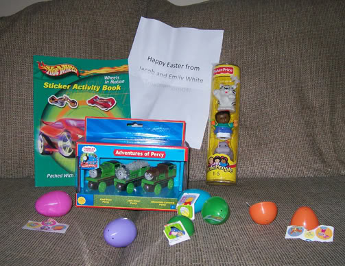 Nathan and autumn got their easter gift swap package in the mail here is a picture of everything that the kids received in the mail negle Images